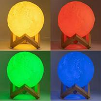 Настольный светильник ночник Луна 3D Moon Lamp, фото 3