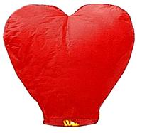 """Небесный фонарик """"Красное сердце"""""""