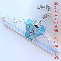 Детские металлические плечики в силиконовом покрытии, длина 30 см Вешалки белого цвета