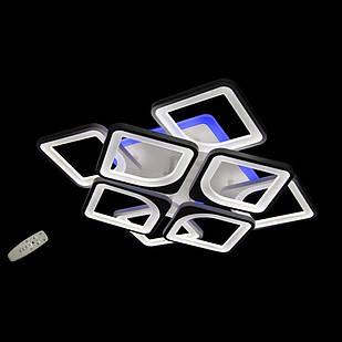 Светодиодная LED люстра СветМира 135 Вт с подсветкой и  регулировкой яркости LS-6654-4-4S