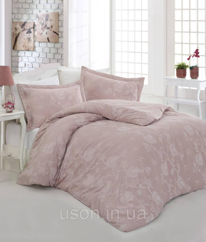 Комплект постельного белья сатин  Altinbasak Sehrazad Beige