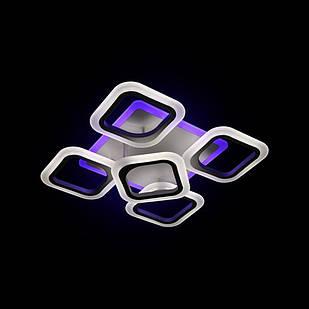 Светодиодная LED люстра СветМира 85 Вт с подсветкой и  регулировкой яркости LS-6699-4-1S