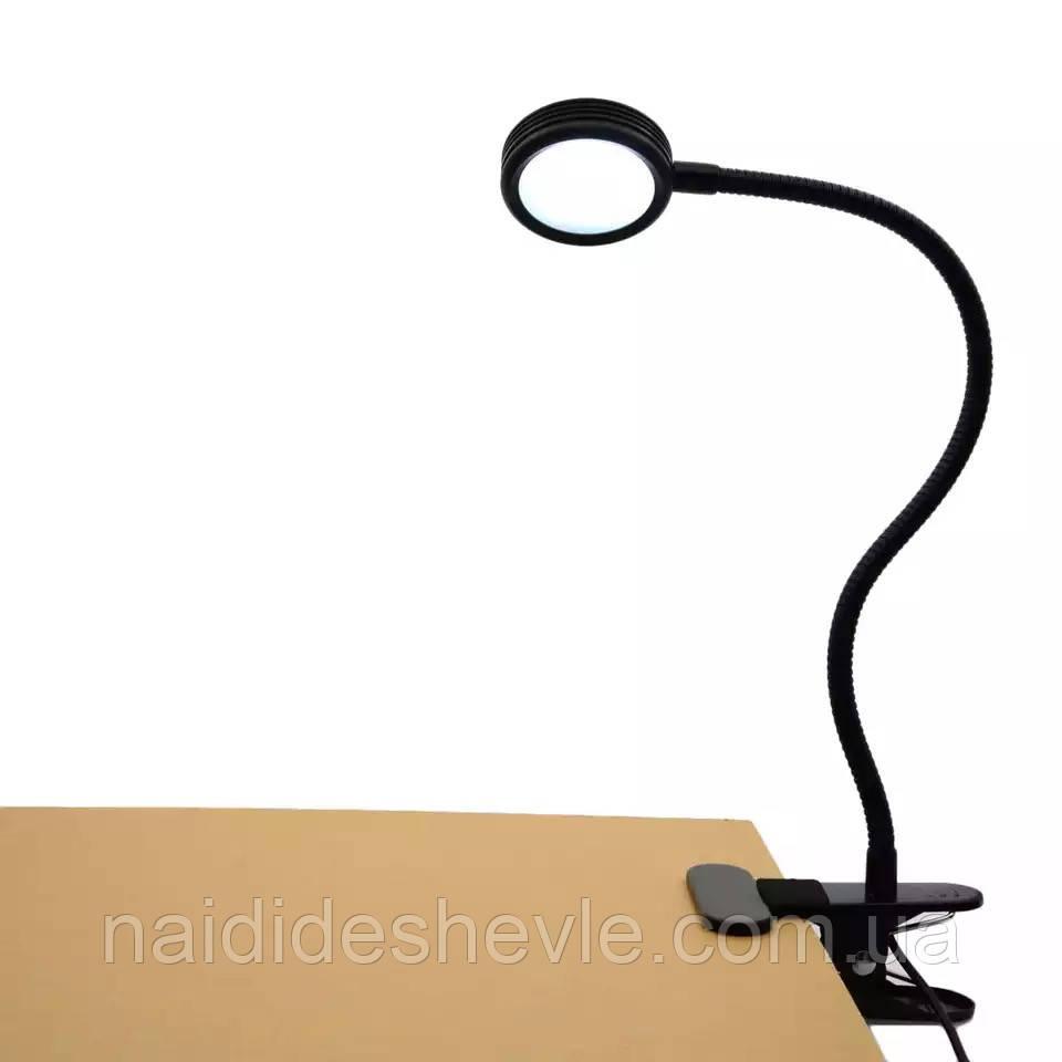 Настільна лампа з прищіпкою