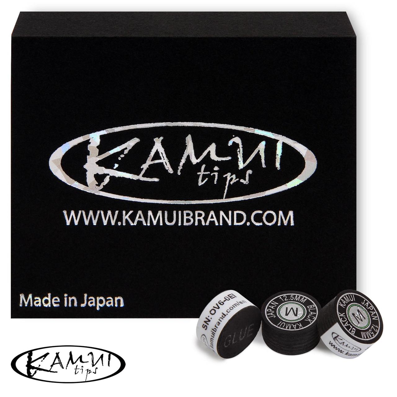 Наклейка для кия Kamui Black 12,5 мм Medium 1шт