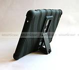 Черный противоударный чехол Lenovo Tab E8 TB-8304F TB-8304L резиновый с подставкой, фото 7