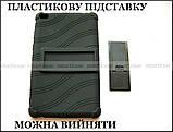 Черный противоударный чехол Lenovo Tab E8 TB-8304F TB-8304L резиновый с подставкой, фото 6