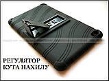 Черный противоударный чехол Lenovo Tab E8 TB-8304F TB-8304L резиновый с подставкой, фото 8