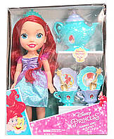 Кукла Русалка Ариель с чайным сервизом Disney Princess Toddler Ariel Doll & Tea Set