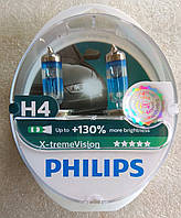 Лампа галогеновая Philips X-tremeVision H4 + 130% 12v
