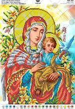 Схема для вишивання бісером за мотивами ікони О. Охапкіна «Божа Мати Коневська»