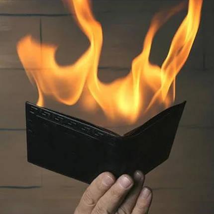 Реквізит для фокусів | Вогненний гаманець (Fire Wallet), фото 2