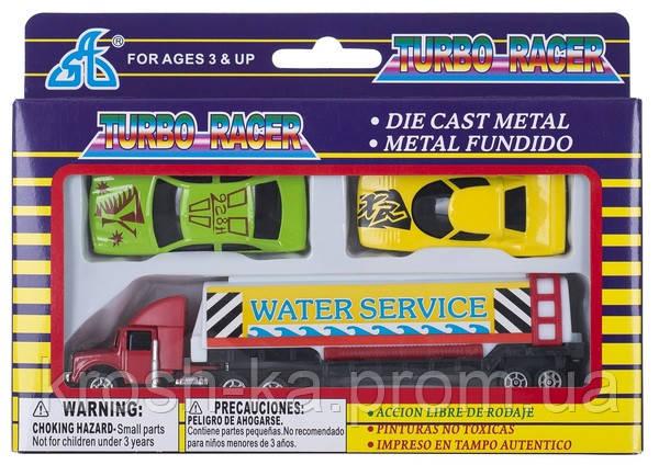 Набор машинок мини металлические Turbo Racer 3 элемента ТМ Дживей 927W3