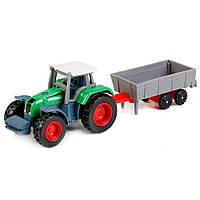 Трактор мини с прицепом металл в ассортименте ТМ Дживей 443927