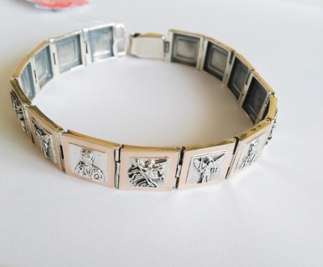 Мужские серебряные браслеты