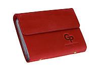 Визитница GP 24 карт, матовая , красный.