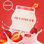 Тканевая маска с йогуртом и клубникой A'PIEU Real Big Yogurt One Bottle Strawberry, фото 3