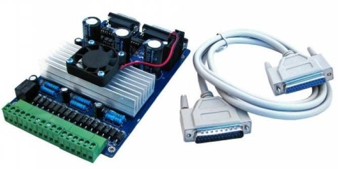 ЧПУ контроллер шаговых двигателей 3-осевой TB6560