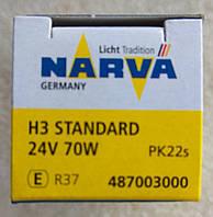 Лампа галогеновая Narva H3 24v 70w, фото 1