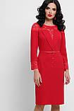 Платье с кружевом в красном цвете Леония, фото 2