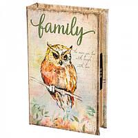 Книги сейф с кодовым замком Owl 26 см