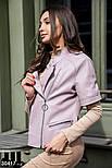Куртка-косуха из эко-кожи с коротким рукавом лиловая, фото 3