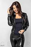 Женская куртка-бомбер из эко-кожи, фото 2