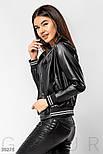 Женская куртка-бомбер из эко-кожи, фото 3