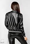 Женская куртка-бомбер из эко-кожи, фото 4