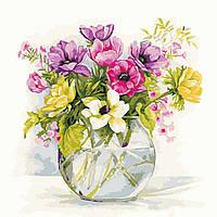 Художественный творческий набор, картина по номерам Нежные садовые цветы, 40x40 см, «Art Story» (AS0609), фото 1