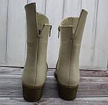 Ботинки женские на низком каблуке из натуральной кожи от производителя модель НИ304-7, фото 2