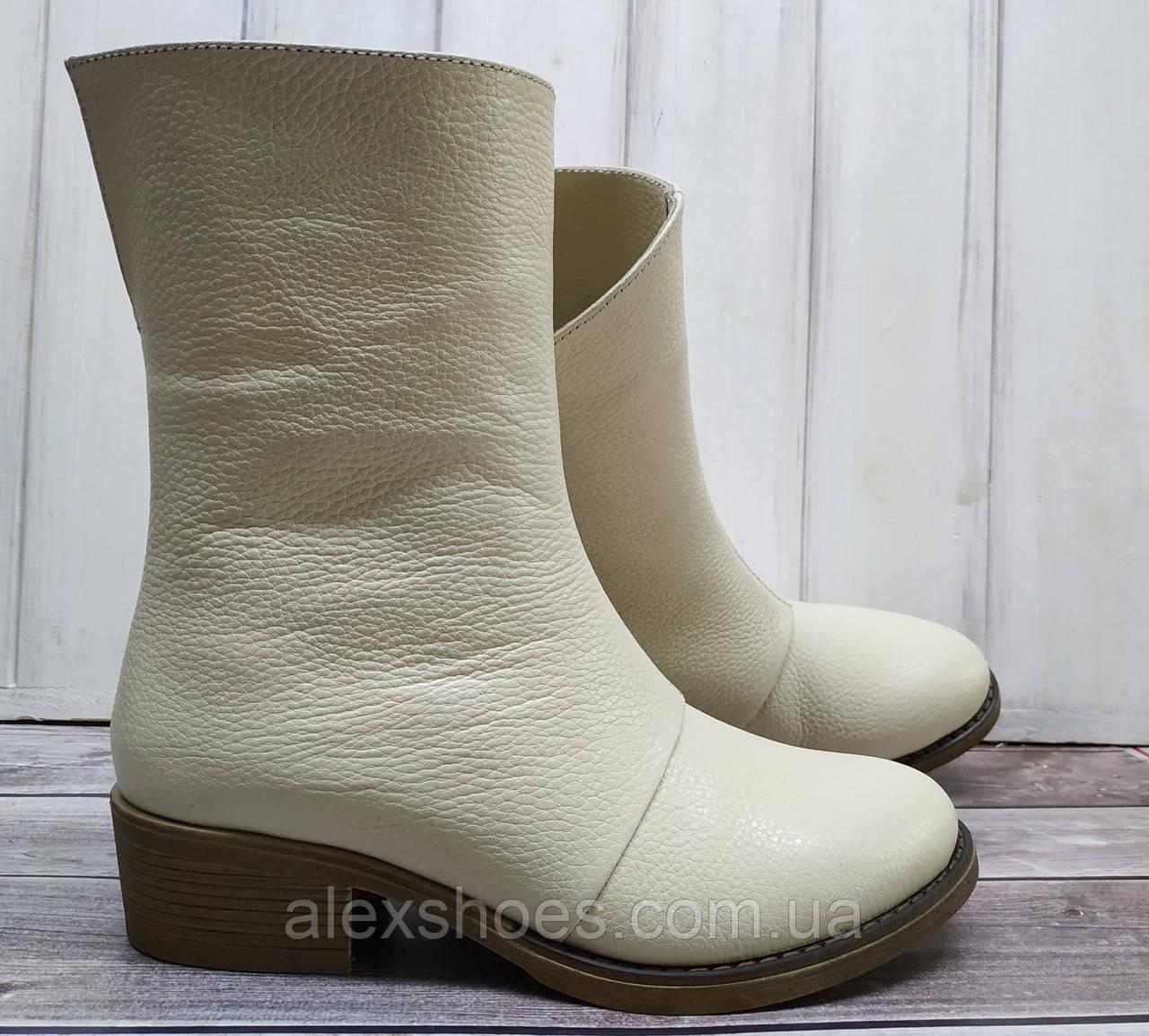 Ботинки женские на низком каблуке из натуральной кожи от производителя модель НИ304-7