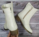 Ботинки женские на низком каблуке из натуральной кожи от производителя модель НИ304-7, фото 3