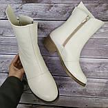 Ботинки женские на низком каблуке из натуральной кожи от производителя модель НИ304-7, фото 4