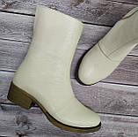 Ботинки женские на низком каблуке из натуральной кожи от производителя модель НИ304-7, фото 5