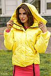 Женская короткая куртка на зиму желтая, фото 2