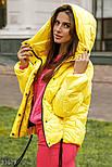 Женская короткая куртка на зиму желтая, фото 3