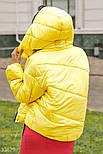 Женская короткая куртка на зиму желтая, фото 4