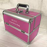 Кейс для косметики алюминиевый Starlet (красный), фото 2