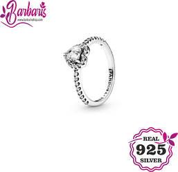 Серебряное кольцо «Возвышенное сердце»