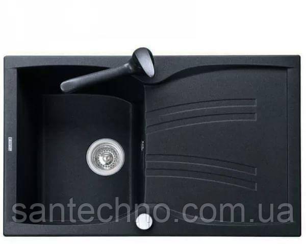 Мойка кухонная врезная с крылом Argo Medio Black 790*500*235 (Черная)