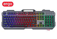 Клавиатура игровая ERGO KB-650 (с подсветкой, подставка для смартфона)