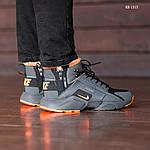 Зимние кроссовки Nike Air Huarache Acronym (черно-оранжевые), фото 2