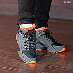 Зимние кроссовки Nike Air Huarache Acronym (черно-оранжевые), фото 3