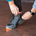 Зимние кроссовки Nike Air Huarache Acronym (черно-оранжевые), фото 4
