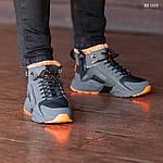Зимние кроссовки Nike Air Huarache Acronym (черно-оранжевые), фото 6