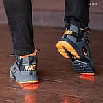 Зимние кроссовки Nike Air Huarache Acronym (черно-оранжевые), фото 8