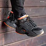 Зимние кроссовки Nike Air Huarache Acronym (черно-оранжевые), фото 7