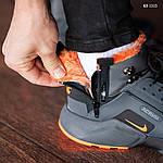 Зимние кроссовки Nike Air Huarache Acronym (черно-оранжевые), фото 9