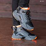 Зимние кроссовки Nike Air Huarache Acronym (черно-оранжевые), фото 5