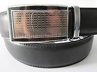 """Ремень мужской брючный автомат черный(кожа китай, 35 мм.) №М18008  """"Remen"""" LM-638"""
